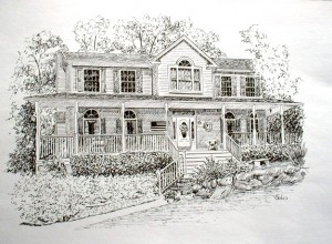 Pen & Ink house portrait
