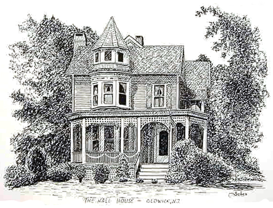 image of a pen and ink house portrait